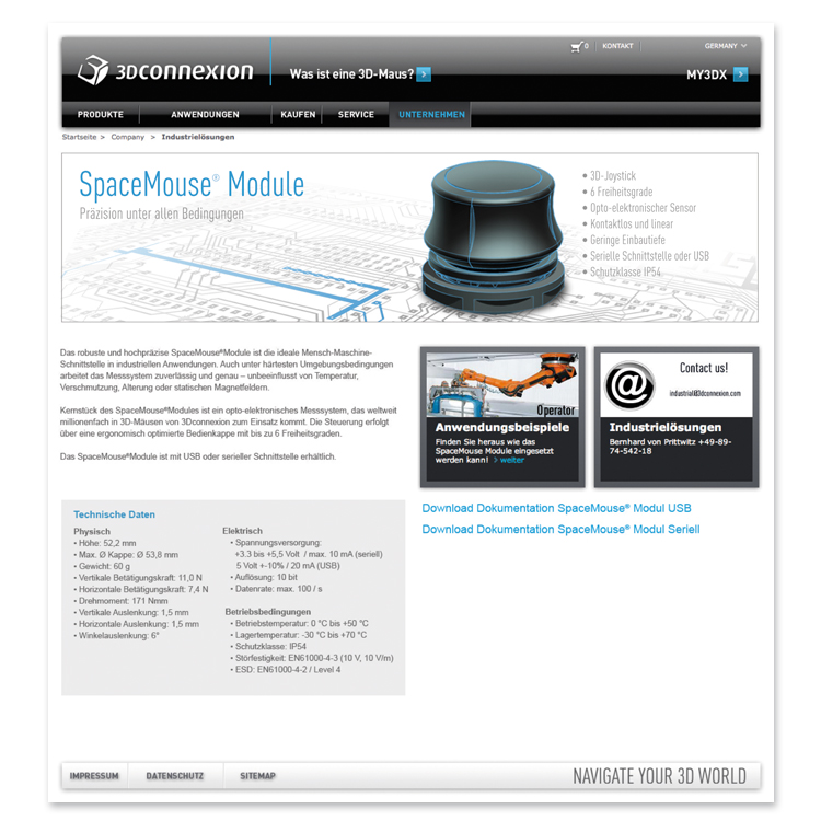 SpaceMouse_Module_Landingpage